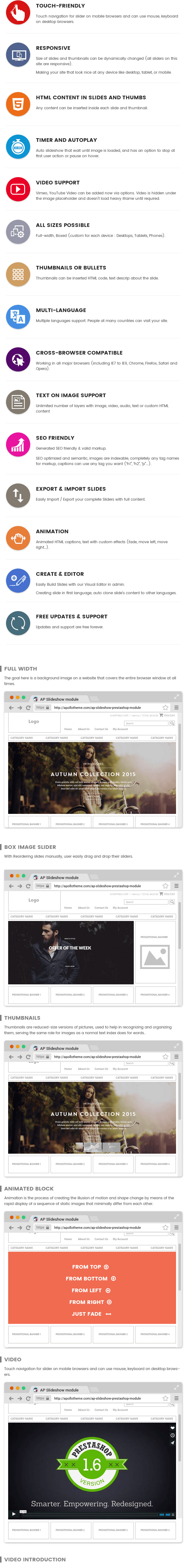 Ap Slideshow Module Prestashop Theme