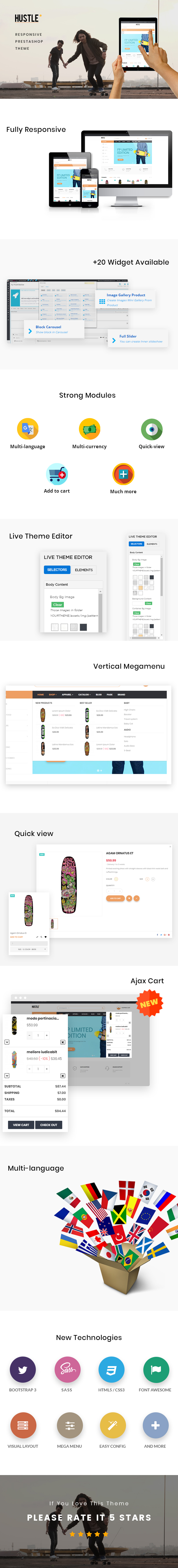 Ap Hustle Prestashop Theme