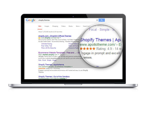 Google Snippets Shopify Themes