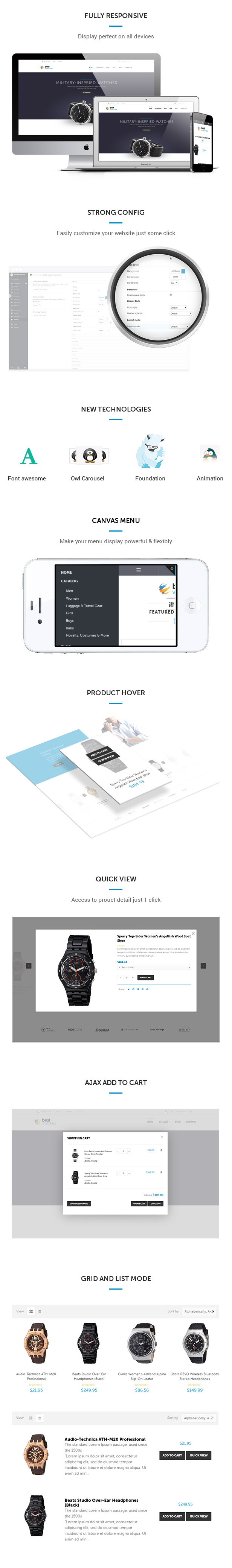 Shopify themes for Watches Store