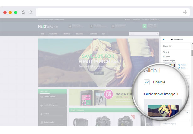 slideshow shopify module