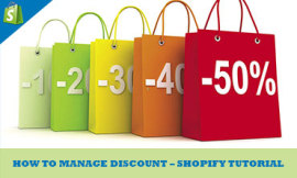 manage discount in shopify