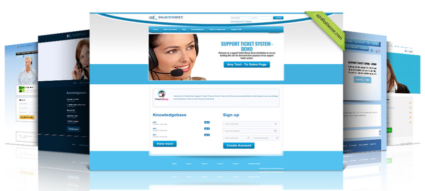 support prestashop theme