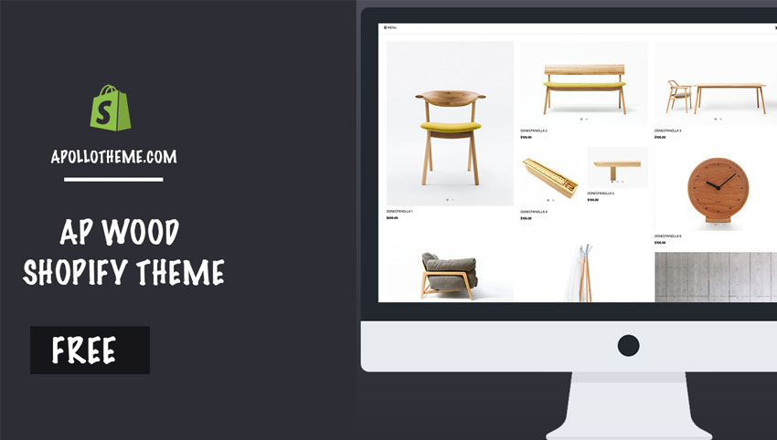 Free Wood Shopify Theme