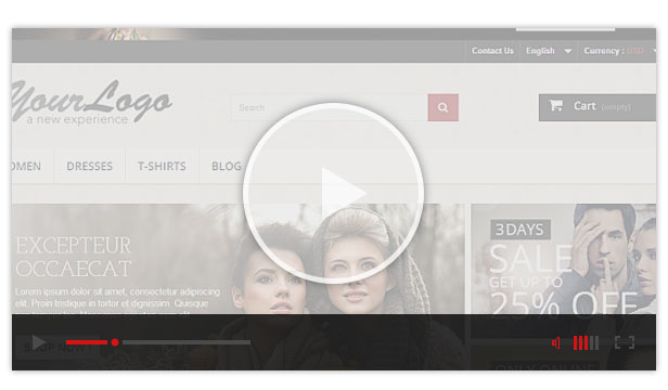 video guide prestashop theme