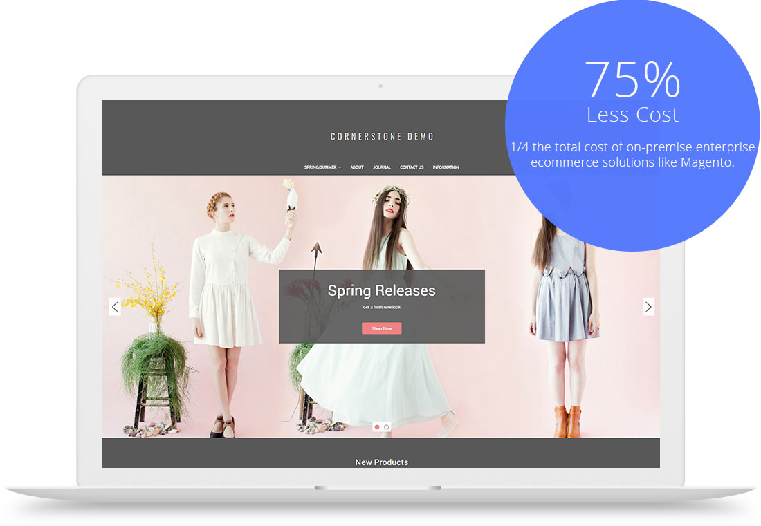 75% less cost with BigCommerce