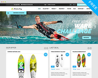 free windsurfing shopify theme. Black Bedroom Furniture Sets. Home Design Ideas