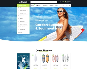 Ap Surfing, Skateboard, Snowboards, Skaters, Surfboards responsive shopify theme