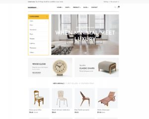 ap hannah shopify theme for furniture store, interior store and multiple stores