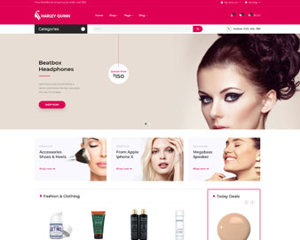 Ap Harleyquinn Organic Cosmetic Prestashop Theme - health & beauty online stores
