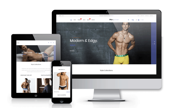 Ap Men Power underwear fashion prestashop theme - fully responsive