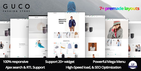 Gucci - The Best Fashion Premium Prestashop Ecommerce Theme