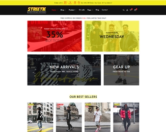 Streetie Prestashop Street Style Fashion Theme for Clothing